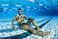 Ian THORPE of Australia poses under water during a training session at his 50m outdoor training pool at the Centro sportivo nazionale della gioventu in Tenero, Switzerland, Friday, Sept. 9, 2011. (Photo by Patrick B. Kraemer / MAGICPBK)