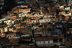 A view of El Guarataro, a poor hillside slum in western Caracas