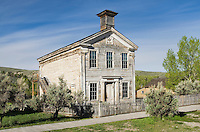 Exterior of Mason's lodge and schoolhouse, Bannack State Park Montana