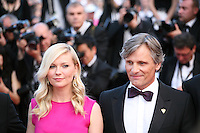 Kirsten Dunst and Viggo Mortensen at the On The Road gala screening red carpet at the 65th Cannes Film Festival France. The film is based on the book of the same name by beat writer Jack Kerouak and directed by Walter Salles. Wednesday 23rd May 2012 in Cannes Film Festival, France.
