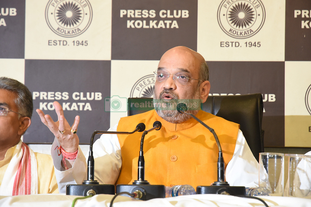 April 26, 2017 - Kolkata, West Bengal, India - Bjp president Amit Shah meet the press at Kolkata press club on April 26,2017 in Kolkata,India. (Credit Image: © Debajyoti Chakraborty/NurPhoto via ZUMA Press)