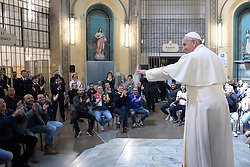 Pope Francis visits the inmates of the San Vittore Prison in Milan, Italy on March 25, 2017. One of the highlights of Pope Francis&
