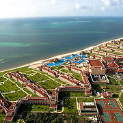 Moon Palace hotel from air. Cancun, Quintana Roo. Mexico.