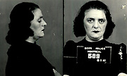 Prostitutes And Madams: Mugshots From When Montreal Was Vice Central<br /> <br /> Montreal, Canada, 1949. Le Devoir publishes a series of articles decrying lax policing and the spread of organized crime in the city. Written by campaigning lawyer Pacifique 'Pax' Plante (1907 – 1976) and journalist Gérard Filion, the polemics vow to expose and root out corrupt officials.<br /> <br /> With Jean Drapeau, Plante takes part in the Caron Inquiry, which leads to the arrest of several police officers. Caron JA's Commission of Inquiry into Public Morality began on September 11, 1950, and ended on April 2, 1953, after holding 335 meetings and hearing from 373 witnesses. Several police officers are sent to prison.<br /> <br /> During the sessions, hundreds of documents are filed as evidence, including a large amount of photos of places and people related to vice.  photos of brothels, gambling dens and mugshots of people who ran them, often in cahoots with the cops – prostitutes, madams, pimps, racketeers and gamblers.<br /> <br /> Photo shows: Annie Parker, 6 janvier 1941 – arrested in connection with an investigation into prostitution.<br /> ©Archives de la Ville de Montréal/Exclusivepix Media