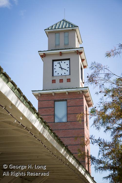 the clock at the Covington Trailhead