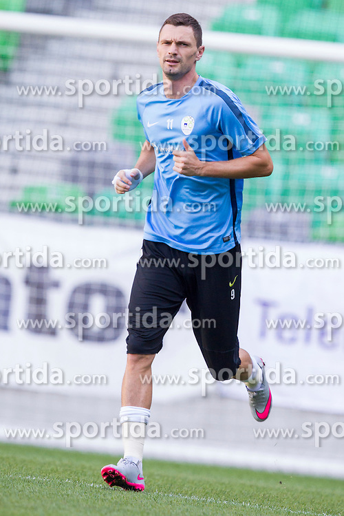 Milivoje Novakovic during practice session of Slovenian National Football Team before Euro 2016 Qualifications match against Switzerland, on September 1, 2015 in SRC Stozice, Ljubljana, Slovenia. Photo by Urban Urbanc / Sportida