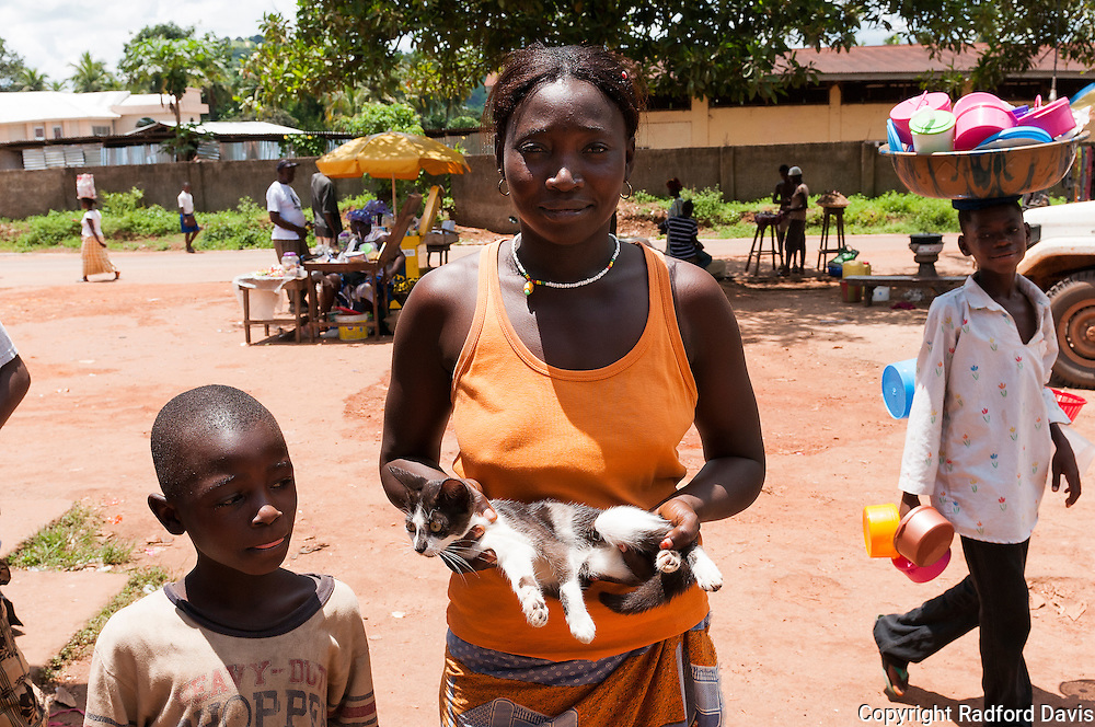 During the 2 weeks I was in Sierra Leone, approximately 5,000 dogs and 400 cats were vaccinated. Cats are much less common.