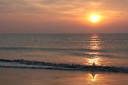 Sunrise/sunset on Jekyll Island Georgia beach