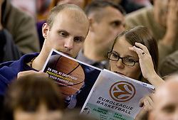 Spectators at Group C of Euroleague basketball match between KK Union Olimpija, Slovenia and Caja Laboral, Spain, on November 5, 2009, in Arena Tivoli, Ljubljana, Slovenia.  (Photo by Vid Ponikvar / Sportida)