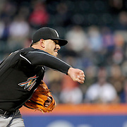 NEW YORK, NEW YORK - APRIL 12: Pitcher Jose Fernandez, Miami Marlins, pitching during the Miami Marlins Vs New York Mets MLB regular season ball game at Citi Field on April 12, 2016 in New York City. (Photo by Tim Clayton/Corbis via Getty Images)
