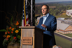 Kentucky Governor Matt Bevin said jokingly that all bourbon made outside of Kentucky was subpar before Bulleit Distilling Co., ribbon cutting with parent company Diageo, Tuesday, March 14, 2017 at Bulleit Distilling Company in Shelbyville.