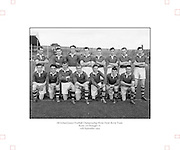 Neg No...598/8145-8149...1954AIJFCF...12.09.1954, 09.12.1954, 12th September 1954..All Ireland Junior Football Championship - Home Final..Kerry.3-6.Donegal.1-6...Kerry. ..N. Hussey, T. Spillane, J. O'Connor, T. Healy, T. Costello, J. Spillone, D. Falvey, E. Fitzgerald, D. Dillon, J. Cullotly, T. Collins, S. Lovett, P. P. Fitzgerald, E. Dowling, B. Galvin.
