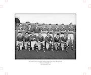 Neg No...598/8145-8149...1954AIJFCF...12.09.1954, 09.12.1954, 12th September 1954..All Ireland Junior Football Championship - Home Final..Kerry.3-6.Donegal.1-6...Kerry. ..N. Hussey, T. Spillane, J. O'Connor, T. Healy, T. Costello, J. Spillone, D. Falvey, E. Fitzgerald, D. Dillon, J. Cullotly, T. Collins, S. Lovett, P. P. Fitzgerald, E. Dowling, B. Galvin.