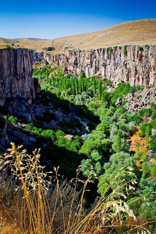 Ihlara Valley and Melendiz Stream. Aksaray province.<br /> Cappadocia, Turkey.