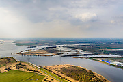 Nederland, Noord-Brabant, Bergen op Zoom, 01-04-2016; Zoommeer zoetwaterbuffer en opvangbassin voor oppervlaktewater bij hoogwater. Molenplaat, Bergsche Diep, Schelde-Rijnverbinding.<br /> Zoommeer freshwater buffer and mergency basin for surface water at high tide.<br /> <br /> luchtfoto (toeslag op standard tarieven);<br /> aerial photo (additional fee required);<br /> copyright foto/photo Siebe Swart