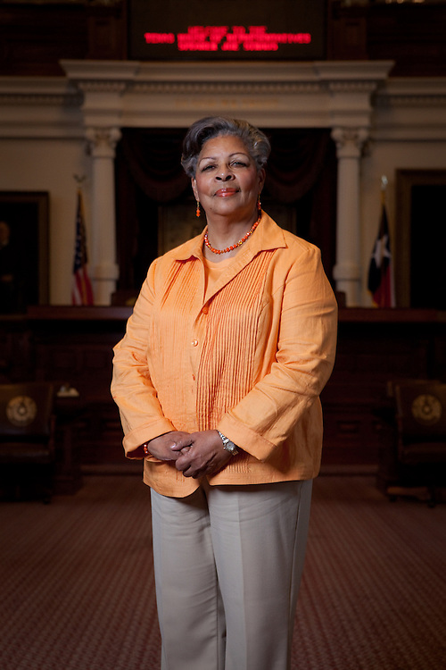 Texas State Representative Senfronia Thompson stands on the floor of the Texas House of Representatives on July 19th, 2011, in Austin, Texas. (For the Texas Tribune)