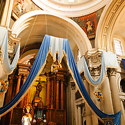 The main altar of the Iglesia San Francisco (St. Francis Church) in downtown Guatemala City.
