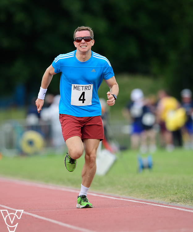Metro Blind Sport's 2017 Athletics Open held at Mile End Stadium.  1500m.  Rhys Jones<br /> <br /> Picture: Chris Vaughan Photography for Metro Blind Sport<br /> Date: June 17, 2017