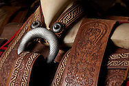 Charreria horseback riding saddle - details