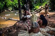 Xerente tribesmen  in the village of Tocantinia, Brazil, Friday, 09, 2015. (Hilaea Media/ Dado Galdieri)