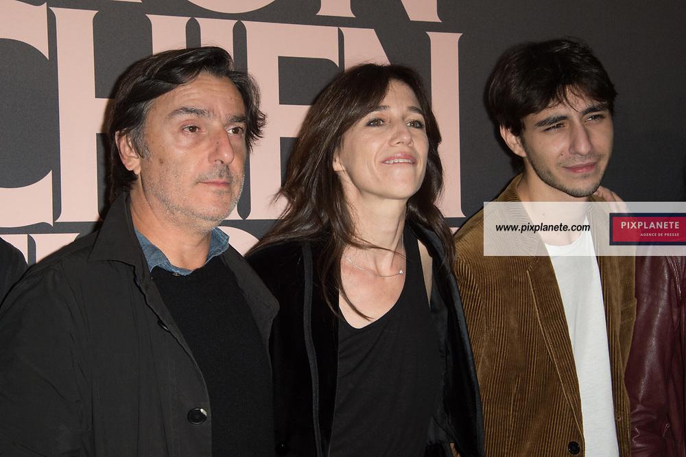 Charlotte Gainsbourg - Yvan Attal  - Ben Attal Avant première du film Mon chien stupide Mardi 22 Octobre 2019 UGC Normandie Paris