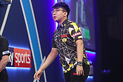 Xiaochen Zong during the PDC William Hill World Darts Championship at Alexandra Palace, London, United Kingdom on 15 December 2019.