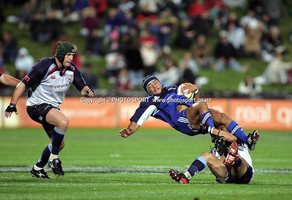 9 April, 2004. Rugby Union Super 12. Eden Park, Auckland, New Zealand. Blues v Bulls.<br />Sam Tuitupou.<br />Pic: Andrew Cornaga/Photosport