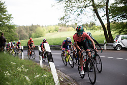 Sofie De Vuyst (BEL) of Parkhotel Valkenburg Cycling Team digs deep on the first categorised climb of Stage 2 of 2019 Festival Elsy Jacobs, a 111.1 km road race starting and finishing in Garnich, Luxembourg on May 12, 2019. Photo by Balint Hamvas/velofocus.com