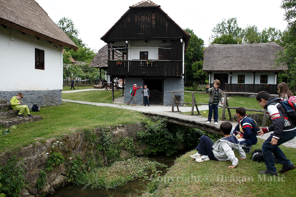 "Kids at the Museum ""Old Village"" Kumrovec."