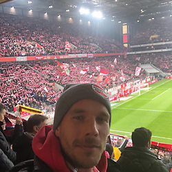 """Lukas Podolski releases a photo on Twitter with the following caption: """"""""Come on #effzeh ❤️💪🏻 #LP10 #KölscheJung"""""""". Photo Credit: Twitter *** No USA Distribution *** For Editorial Use Only *** Not to be Published in Books or Photo Books ***  Please note: Fees charged by the agency are for the agency's services only, and do not, nor are they intended to, convey to the user any ownership of Copyright or License in the material. The agency does not claim any ownership including but not limited to Copyright or License in the attached material. By publishing this material you expressly agree to indemnify and to hold the agency and its directors, shareholders and employees harmless from any loss, claims, damages, demands, expenses (including legal fees), or any causes of action or allegation against the agency arising out of or connected in any way with publication of the material."""