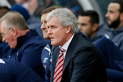 Stoke City Manager Mark Hughes looks on - Photo mandatory by-line: Rogan Thomson/JMP - 07966 386802 - 01/01/2015 - SPORT - FOOTBALL - Stoke-on-Trent, England - Britannia Stadium - Stoke City v Manchester United - New Year's Day Football - Barclays Premier League.