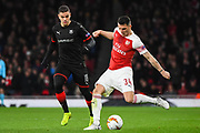 Arsenal Midfielder Granit Xhaka (34) in action during the Europa League round of 16, leg 2 of 2 match between Arsenal and Rennes at the Emirates Stadium, London, England on 14 March 2019.
