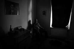 Struggling witgh depression since the death of his sister, German writer Ralf Mueller spends most of his time alone in his apartment in Hamburg, Germany.