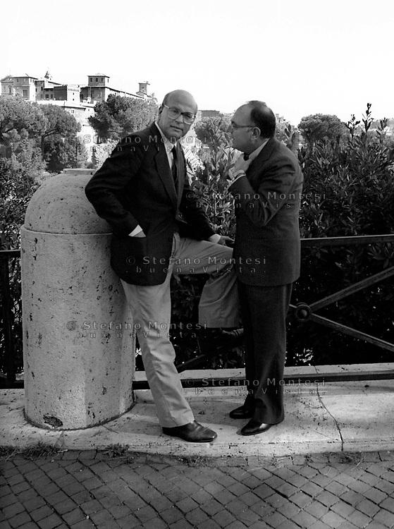 Roma 1981.Bettino Craxi(Partito Socialista Italiano),  Rino Formica(Partito Socialista Italiano)