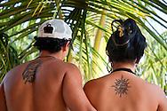Tattoos at Portada de la Libertad, Granma, Cuba.