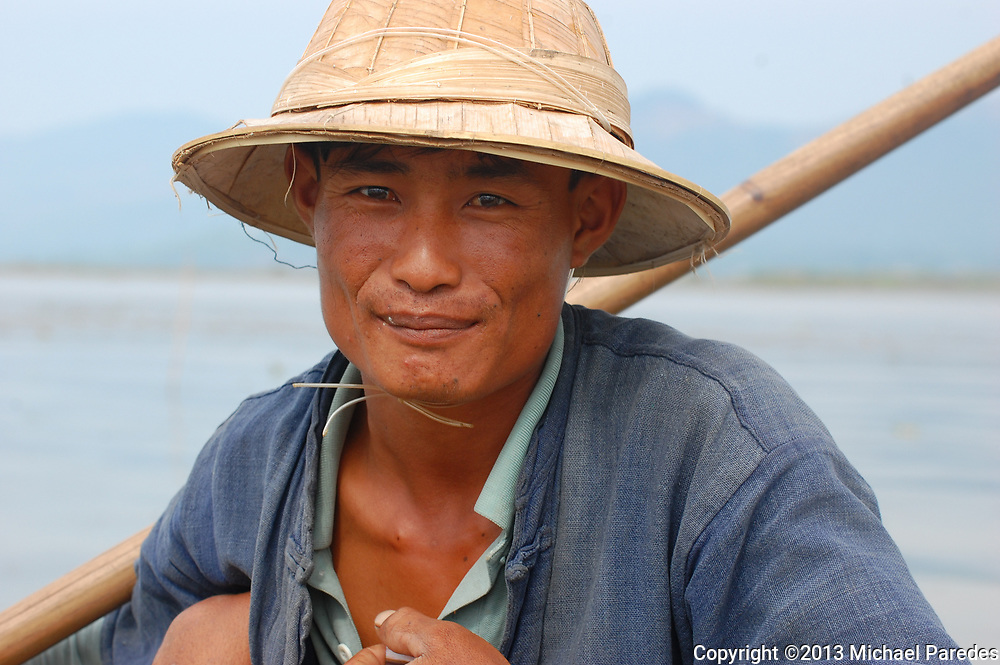Traditional fisherman on Inlé Lake, Burma (Myanmar)