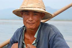 Traditional fisherman on Inlé Lake, Burma (Myanmar)