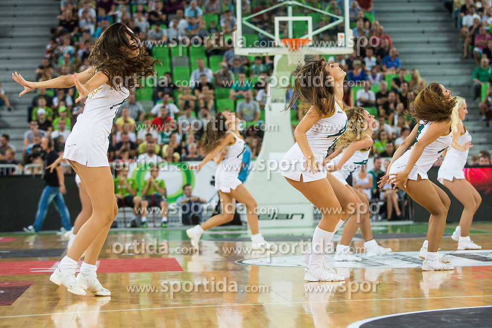 Cheerleaders Dragon Ladies - Zmajcice during friendly basketball match between National teams of Slovenia and Serbia in arena Stozice, on August 23 in Ljubljana, Slovenia. Photo by Grega Valancic / Sportida August 27, 2015