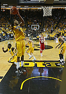 January 19 2013: Iowa Hawkeyes guard/forward Roy Devyn Marble (4) pulls in a rebound during the first half of the NCAA basketball game between the Wisconsin Badgers and the Iowa Hawkeyes at Carver-Hawkeye Arena in Iowa City, Iowa on Sautrday January 19 2013. Iowa defeated Wisconsin 70-66.
