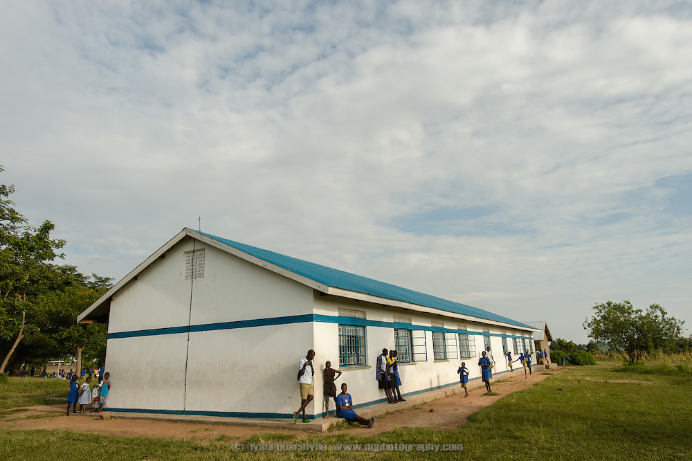 Agwait Primary School near Tororo in Eastern Uganda on 1 August 2014. The school participates in a Menstrual Health Management program supported by Plan International.