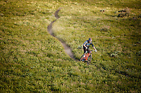 Mike Montgomery riding trails at Deer Valley, Utah.