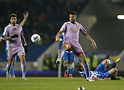 Reading defender Michael Hector (8) during the Sky Bet Championship match between Brighton and Hove Albion and Reading at the American Express Community Stadium, Brighton and Hove, England on 15 March 2016.