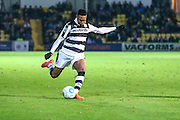 Forest Green Rovers Keanu Marsh-Brown(7) crosses the ball during the Vanarama National League match between Torquay United and Forest Green Rovers at Plainmoor, Torquay, England on 26 December 2016. Photo by Shane Healey.