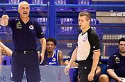 DESCRIZIONE : Porto San Giorgio PreCampionato Lega A 2015-16 Vanoli Cremona Banvit Basketbol GIOCATORE : Cesare Pancotto<br /> CATEGORIA : Coach Direttive Mani Arbitro FairPlay<br /> SQUADRA : Vanoli Cremona<br /> EVENTO :  PreCampionato Lega A 2015-16<br /> GARA : Vanoli Cremona Banvit Basketbol <br /> DATA : 04/09/2015<br /> SPORT : Pallacanestro <br /> AUTORE : Agenzia Ciamillo-Castoria/A.Giberti<br /> Galleria :  Campionato Lega A 2015-16  <br /> Fotonotizia :  Vanoli Cremona Banvit Basketbol <br /> Predefinita :