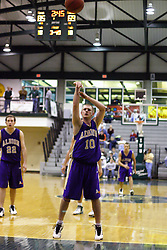 30 December 2006: Robbie Clark shoots for free. The Titans outscored the Britons by a score of 94-80. The Britons of Albion College visited the Illinois Wesleyan Titans at the Shirk Center in Bloomington Illinois.<br />