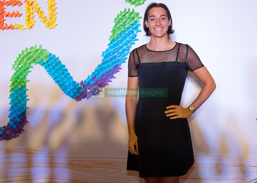 September 22, 2018 - Caroline Garcia of France on the red carpet at the 2018 Dongfeng Motor Wuhan Open WTA Premier 5 tennis tournament players party (Credit Image: © AFP7 via ZUMA Wire)