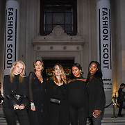 Pop PR interns attend the Fashion Scout - SS19 - London Fashion Week - Day 1, London, UK. 14 September 2018.