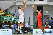 """DESCRIZIONE : Torneo Città di Sassari """"Mimì Anselmi"""" Lokomotiv Kuban Krasnodar - Enel Brindisi<br /> GIOCATORE : Sek Henry<br /> CATEGORIA : Tiro Tre Punti Controcampo<br /> SQUADRA : Enel Brindisi<br /> EVENTO :  Torneo Città di Sassari """"Mimì Anselmi"""" <br /> GARA : Lokomotiv Kuban Krasnodar - Enel Brindisi<br /> DATA : 14/09/2014<br /> SPORT : Pallacanestro <br /> AUTORE : Agenzia Ciamillo-Castoria / Luigi Canu<br /> Galleria : Precampionato 2014/2015<br /> Fotonotizia : Torneo Città di Sassari """"Mimì Anselmi"""" Lokomotiv Kuban Krasnodar - Enel Brindisi<br /> Predefinita :"""