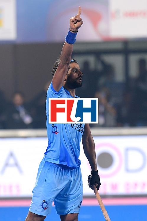Odisha Men's Hockey World League Final Bhubaneswar 2017<br /> Match id:13<br /> Belgium v India<br /> Foto: India scored a goal <br /> COPYRIGHT WORLDSPORTPICS FRANK UIJLENBROEK
