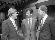 Tanaiste Dick Spring T.D..Speaks at Midsnell Meeting..1984..15.06.1984..06.15.1984..15th June 1984..Tanaiste Dick Spring T.D. spoke today at the European Area Meeting of Midsnell (International Assoc Of Independent Accountancy Firms).The meeting ,held in The Berkeley Court Hotel,Dublin was hosted by Copsey Murray and Co.Chartered Accountants..Photograph shows (L-R) Mr Roger Copsey,Partner,Copsey Murray and Co.,Tanaiste and Minister for Energy, Mr Dick Spring T.D. and Mr Gerry Murray,Partner,Copsey Murray and Co.